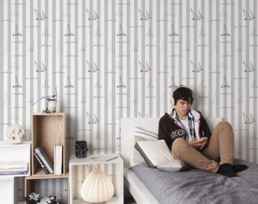 Papeles pintados y murales para habitaciones de chicos - Papel pintado para dormitorio juvenil ...