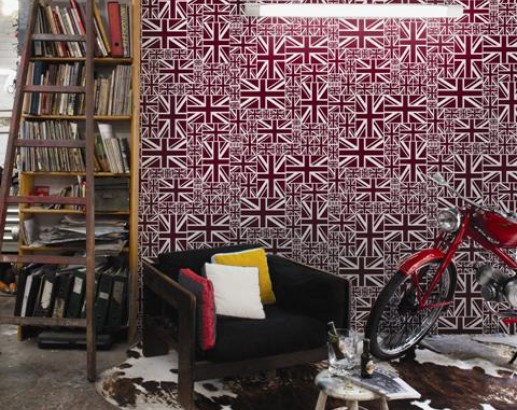 Papel pintado Union Jack de Coordonné - Villalba Interiorismo
