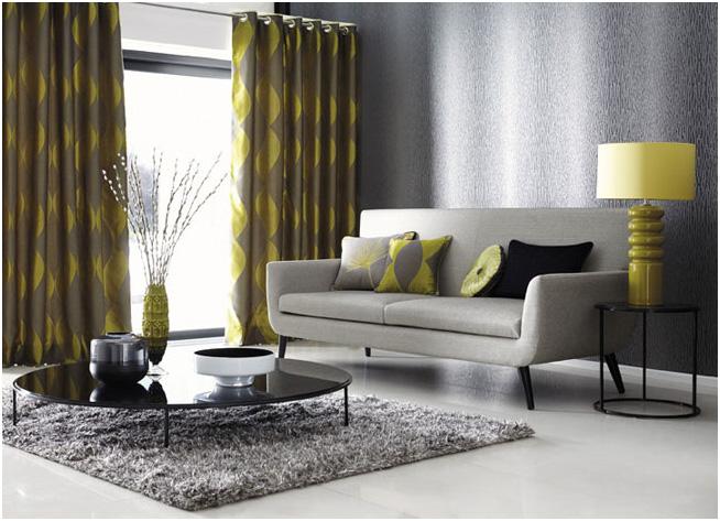 Salón con dobles cortinas con barra - Villalba Interiorismo (2)