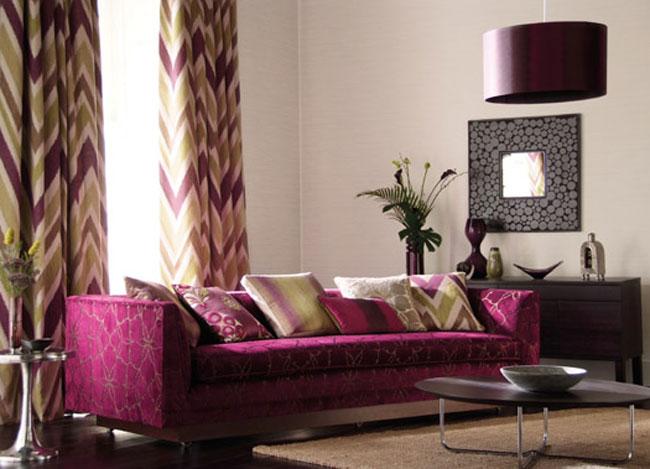 Salón con dobles cortinas - Villalba Interiorismo (2)