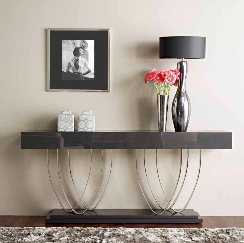 5 consolas modernas villalba interiorismo - Como decorar un recibidor moderno ...