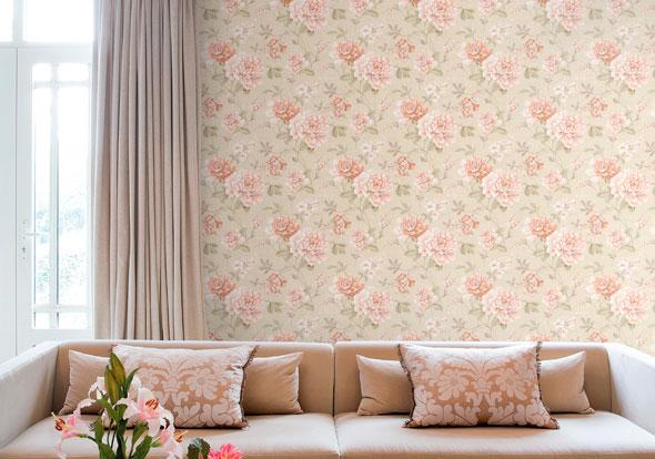 Papeles pintados con aire vintage villalba interiorismo for Papel pintado vintage