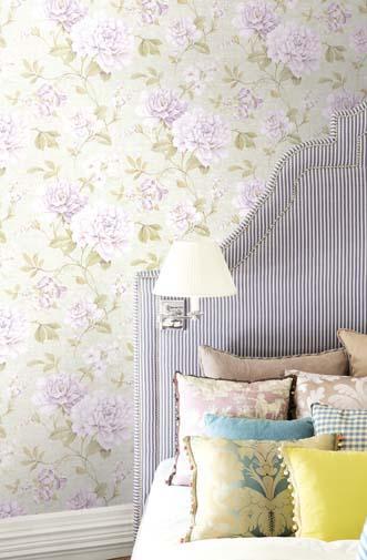 Papeles pintados con aire vintage villalba interiorismo - Papel pintado dormitorio principal ...