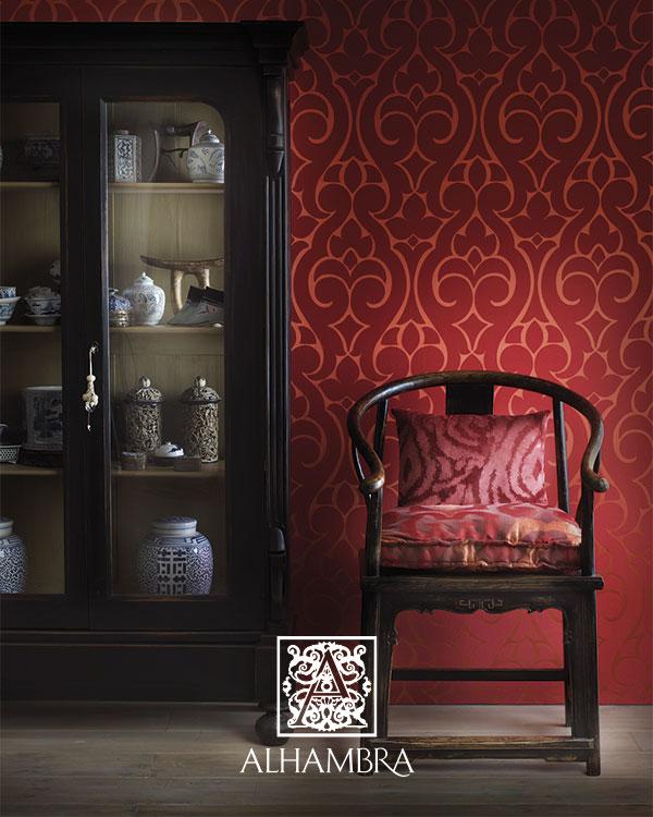 Tapizado rojo - Villalba Interiorismo
