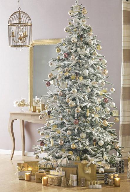 Árbol de Navidad dorado - Villalba Interiorismo