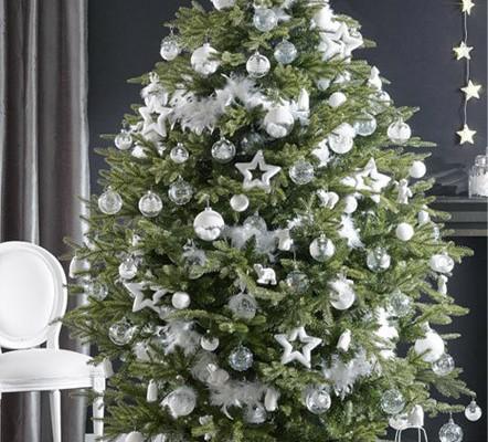 5 ideas para decorar el rbol de navidad villalba interiorismo - Arbol navideno blanco decorado ...