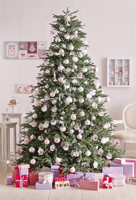 Árbol de Navidad en rosa - Villalba Interiorismo