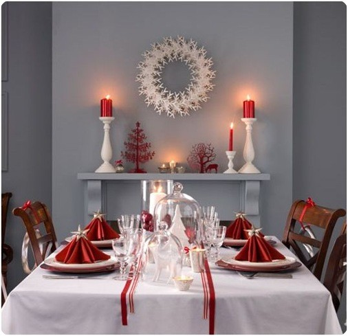 decoracin mesa de navidad villalba