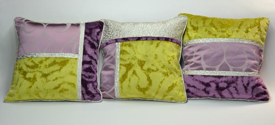 Cojines patchwork - Villalba Interiorismo