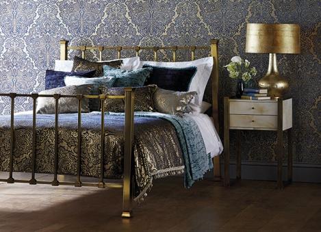 Decoración en azul y dorado - Villalba Interiorismo (2)