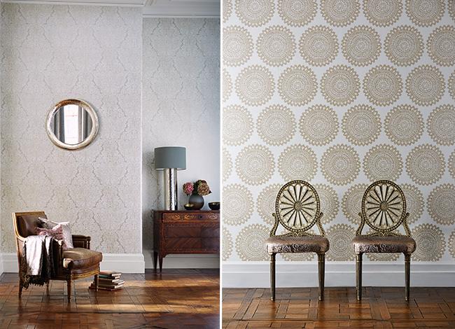 Papeles pintados con glamour villalba interiorismo - Maison decor papeles pintados ...