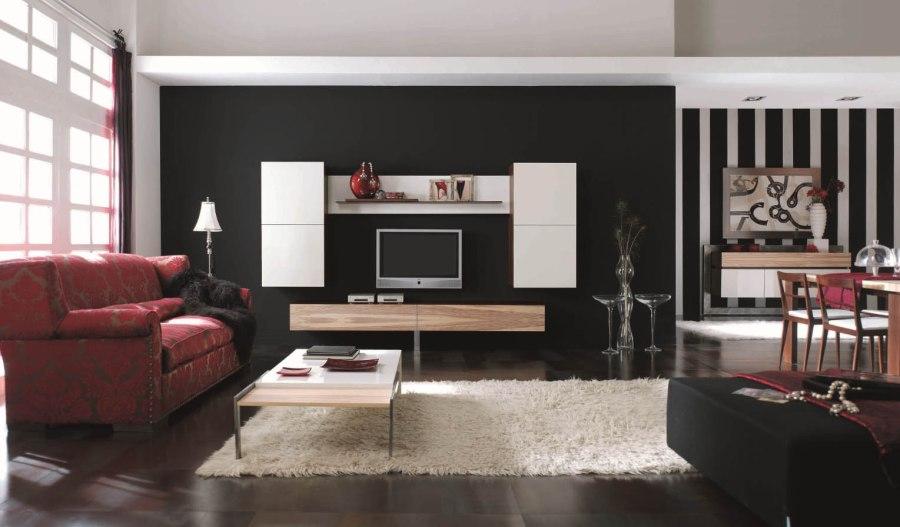 Salón madera y lacado blanco - Villalba Interiorismo