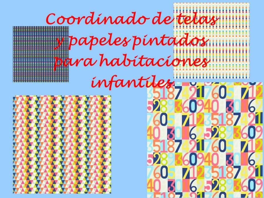 Telas y papeles pintados habitación infantiles - villalba Interiorismo