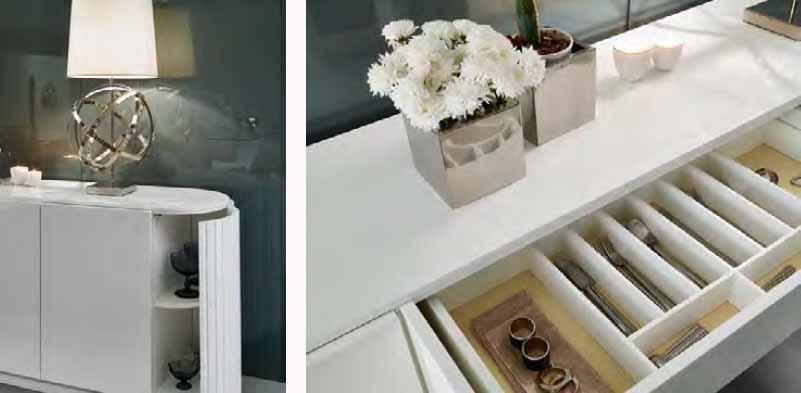 Aparador lacado en blanco - Villalba Interiorismo