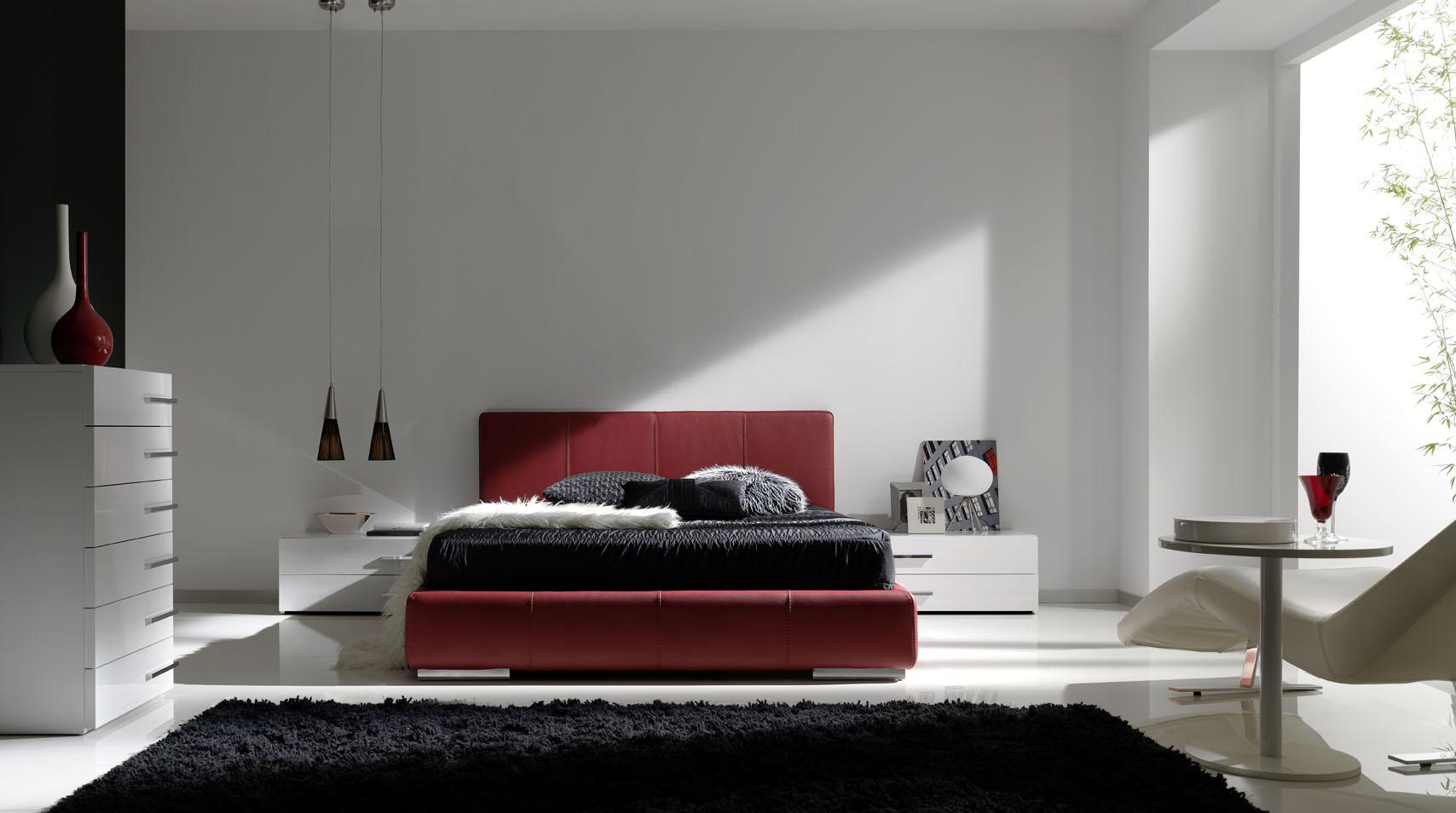 El rojo pasi n para el dormitorio villalba interiorismo - Interiorismo dormitorios ...