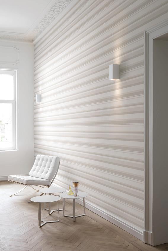 8 ventajas para colocar papeles pintados villalba for Papel de rayas para pared