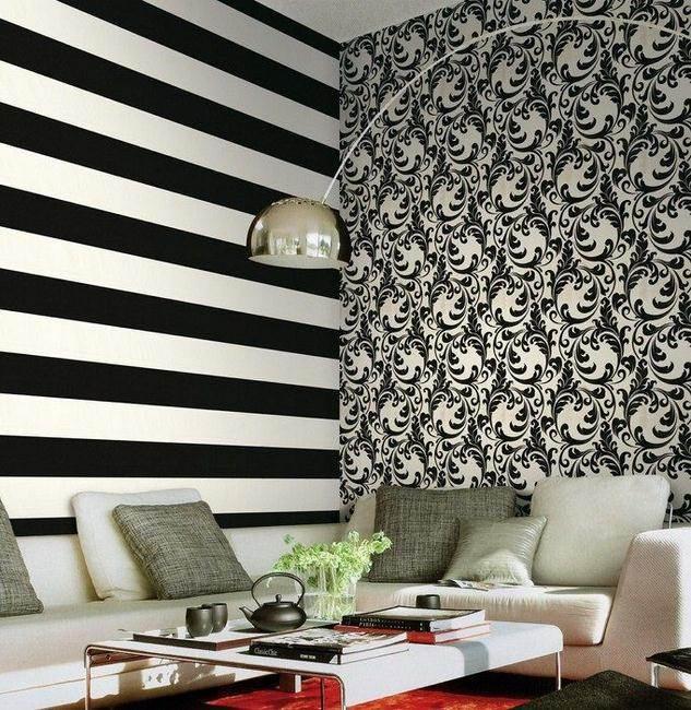 Salón con papel pintado de Roberto cavalli (8) - Villalba Interiorismo