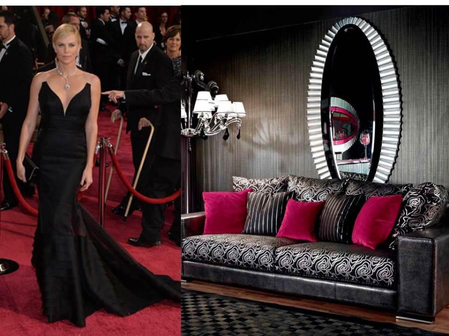 Charlize Theron y decoración glamour - Villalba Interiorismo