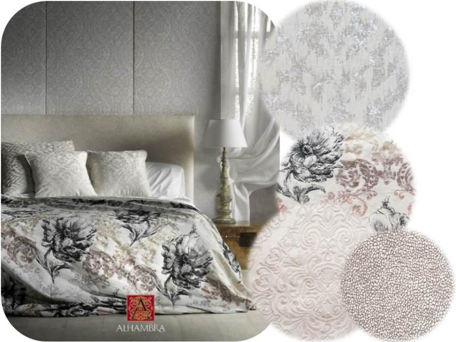 Cojines con distintas texturas y dibujos - Villalba Interiorismo