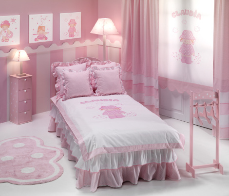 Cortinas para habitación de niñas - Villalba Interiorismo (3)