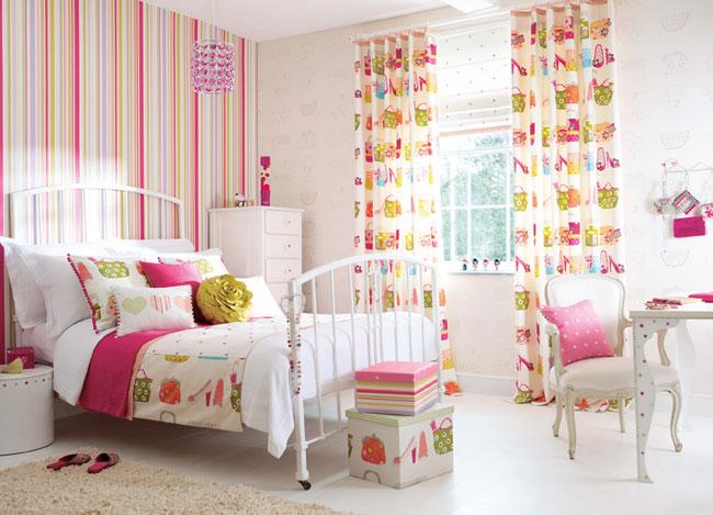 Cortinas para habitación de niñas - Villalba Interiorismo