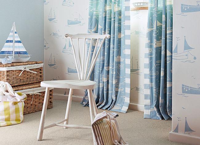 Cortinas para habitación de niños - Villalba Interiorismo