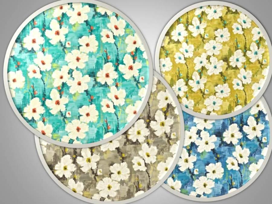 Estampado de flores - Villalba Interiorismo