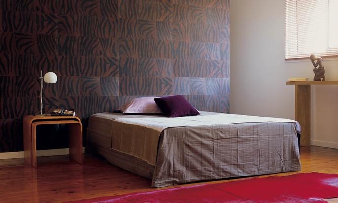Papel pintado con textura de piel - Villalba Interiorismo