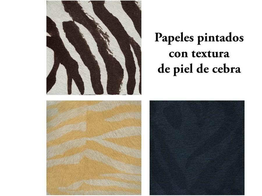 Papeles pintados con textura de piel de cebra - Villalba Interiorismo
