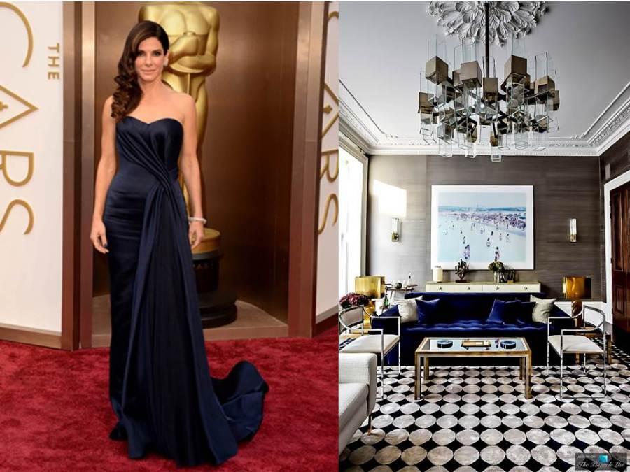 Sandra Bullock y decoración glamour - Villalba Interiorismo