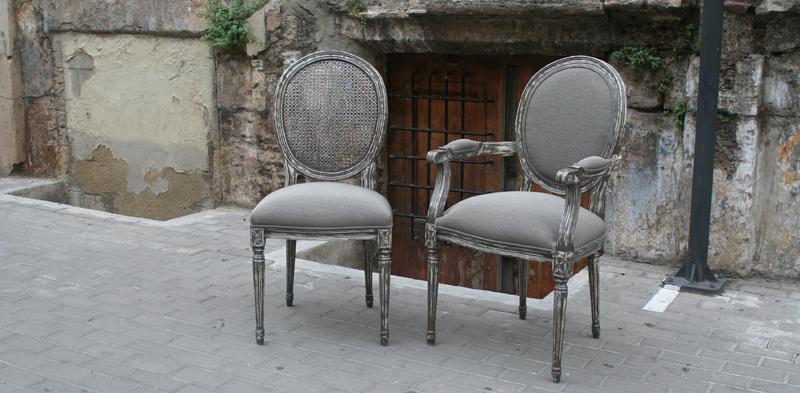 Sillas respaldo tapizado o rejilla - Villalba Interiorismo