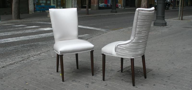 Sillas respaldo tapizado - Villalba Interiorismo