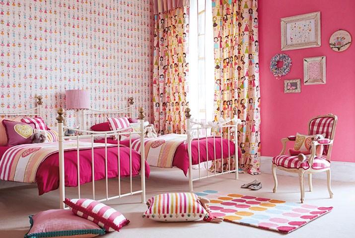 Preciosas mu ecas para una habitaci n de ni as villalba - Papel pintado para habitacion nina ...