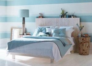 Dormitorio en color turquesa - Villalba Interiorismo