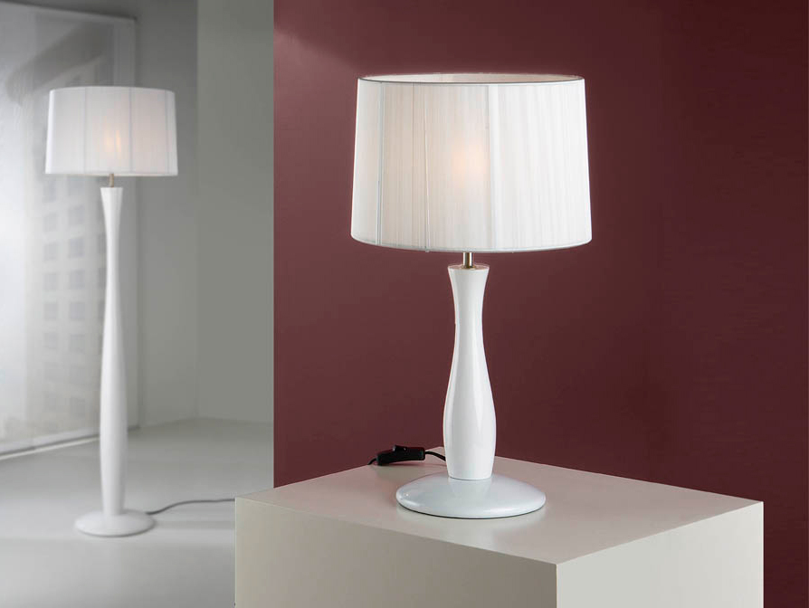 Lámpara sobremesa Lin blanco - Villalba Interiorismo