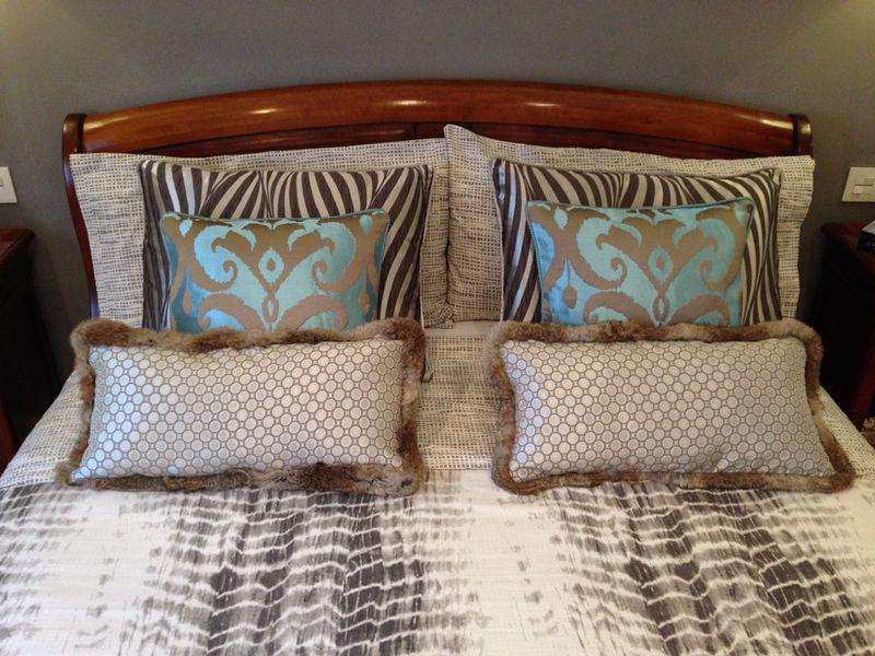 Cojines cama - Villalba Interiorismo