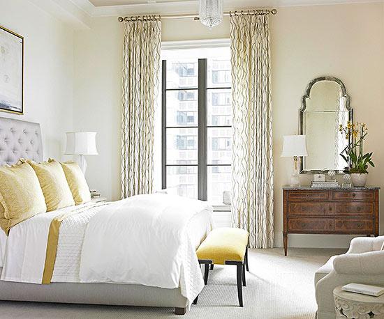 Dormitorio con amarillo - Villalba Interiorismo (2)