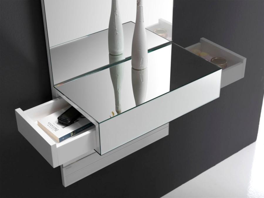 Espejo con cajón (detalle) - Villalba Interiorismo