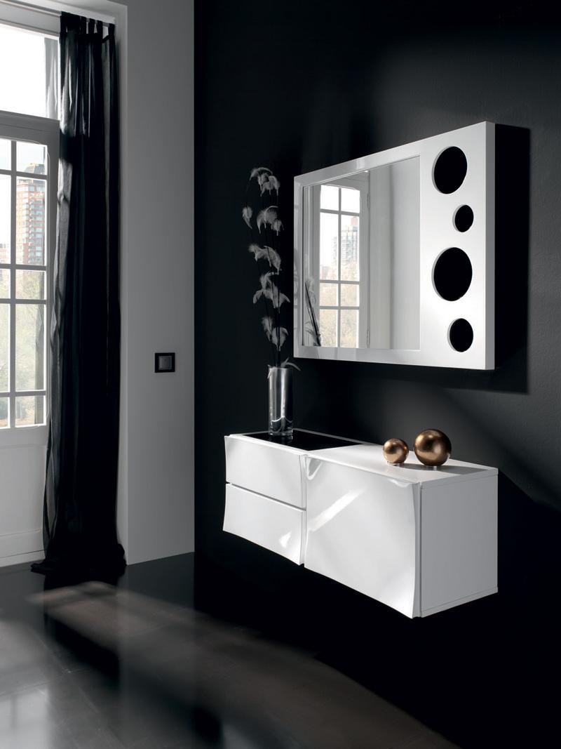 Mueble entrada con espejo - Villalba Interiorismo