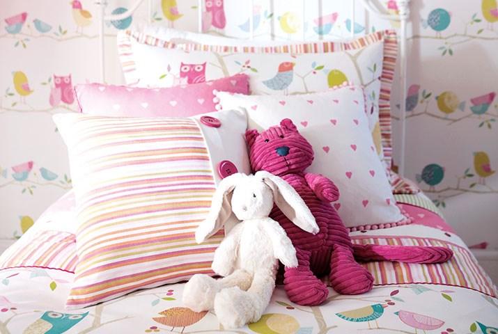 Cojines habitaciones de niñas - Villalba Interiorismo