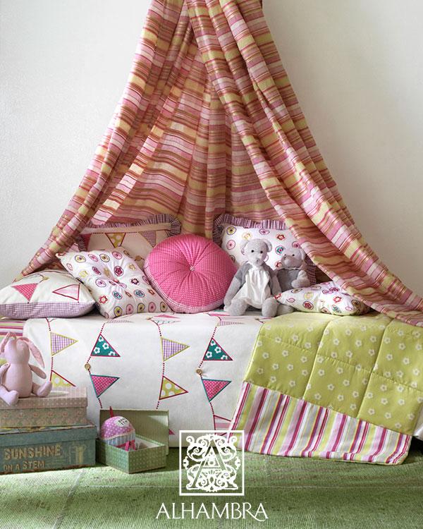 Cojines habitaciones niñas - Villalba Interiorismo