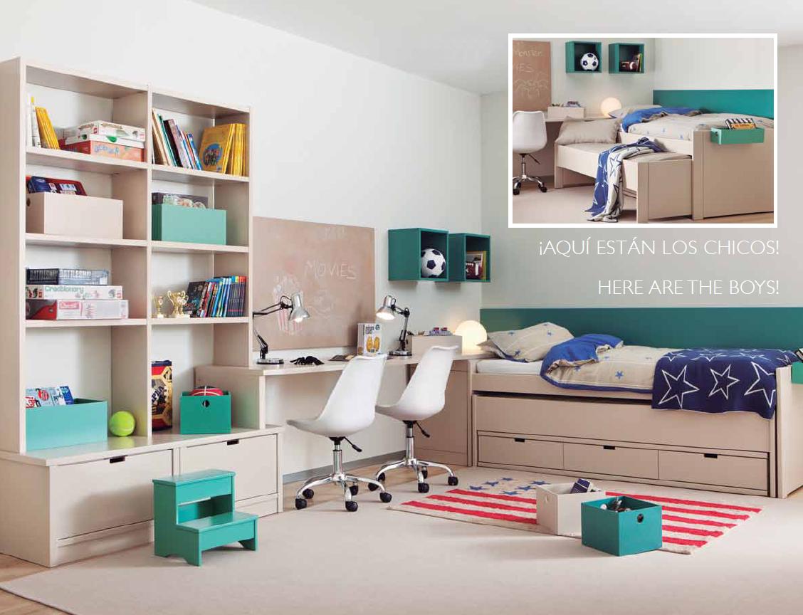 Habitaciones compartidas villalba interiorismo - Habitaciones juveniles 2 camas ...