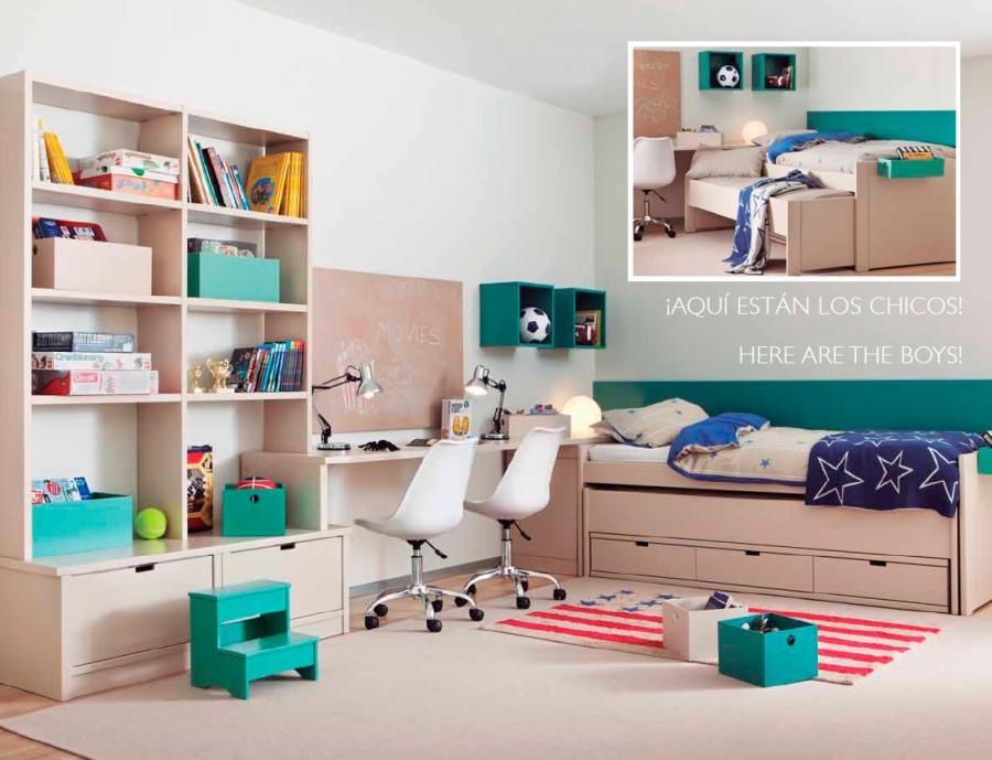 Habitación niños compartida - Villalba Interiorismo (2)