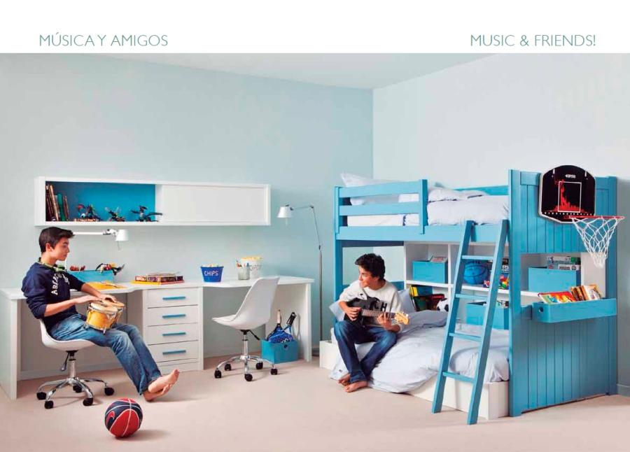 Habitación niños compartida - Villalba Interiorismo