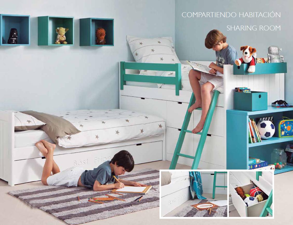 Habitaciones compartidas villalba interiorismo - Habitaciones infantiles compartidas ...