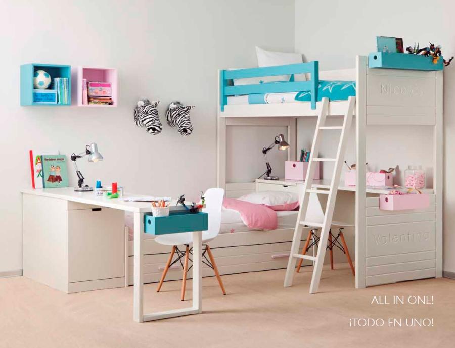 Habitación niños compartidas  - Villalba Interiorismo