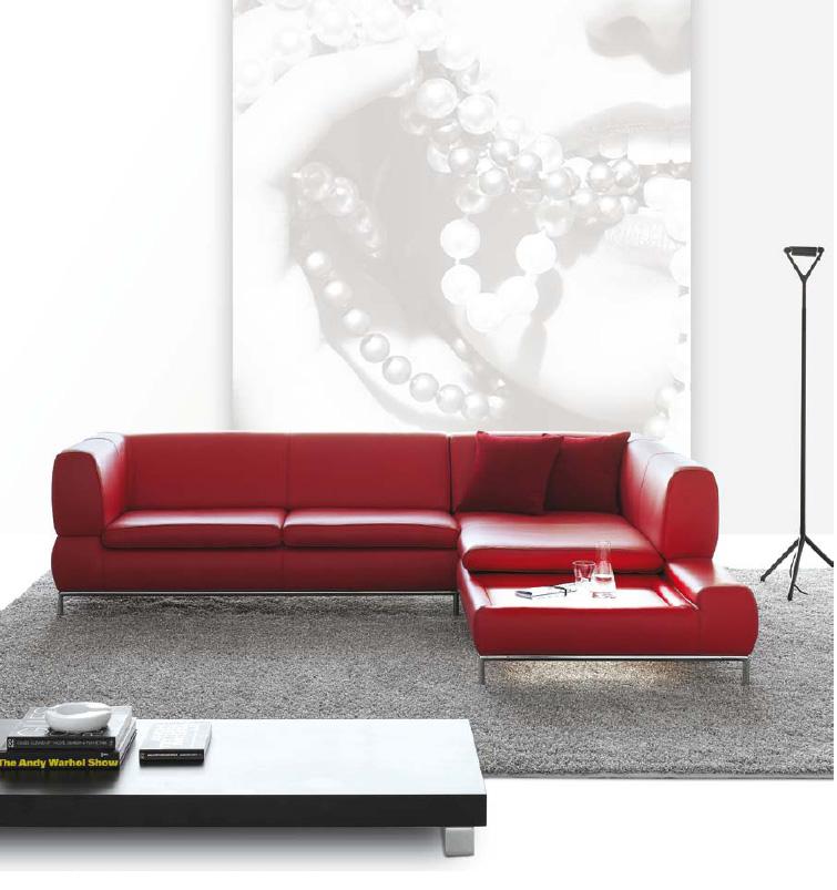Sofá rojo - Villalba Interiorismo