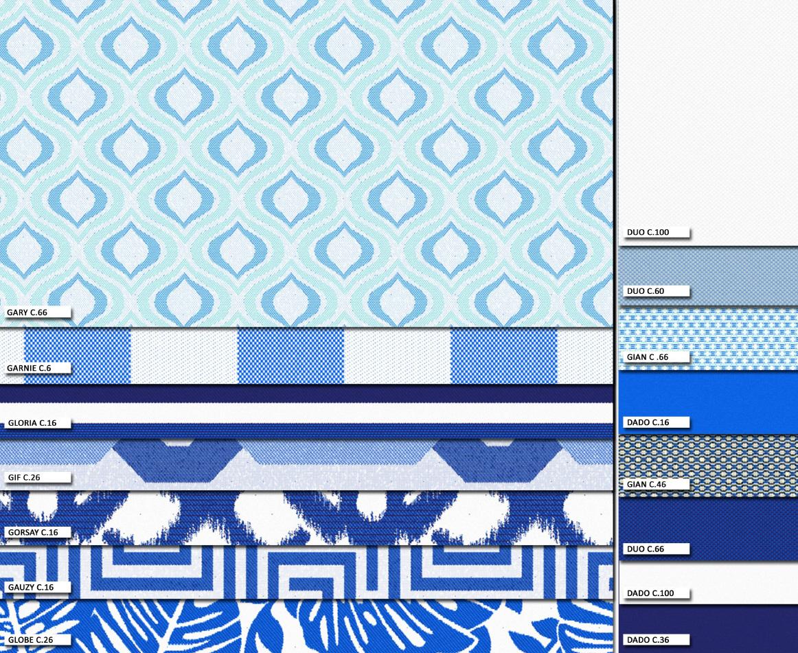 Mucho color en tejidos para exterior villalba interiorismo for Telas de exterior
