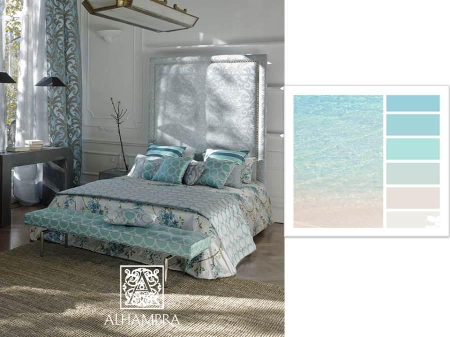 Dormitorio en tonos pasteles - Villalba Interiorismo