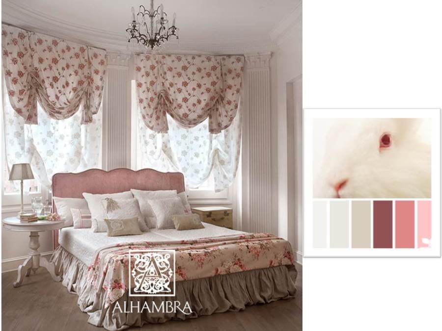 Habitación con flores - Villalba Interiorismo